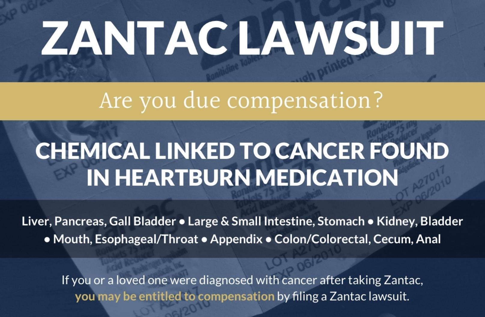 Zantac lawsuit eligible for a compensation claim